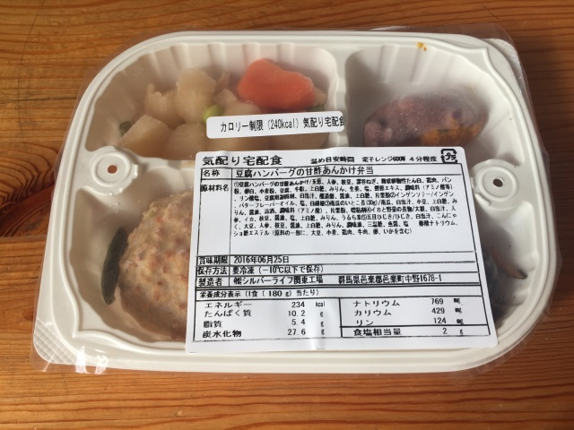 ウェルネスダイニング 豆腐ハンバーグ1