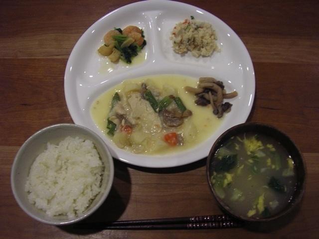 ウェルネスダイニング 鶏肉と野菜のクリームソース5
