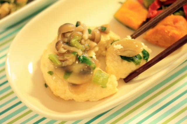 おまかせ健康三彩 豆腐ハンバーグきのこソース5