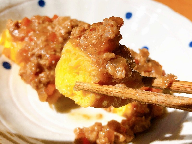 ウェルネスダイニング 肉味噌オムレツ9